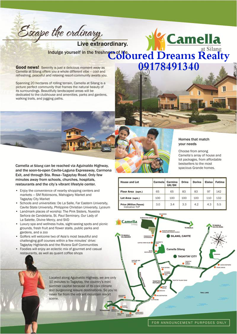 Camella homes house and lot near tagaytay city - Camella Silang Tagaytay Camella Silang Our Model Houses